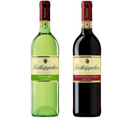 Rotkäppchen und der Wein.